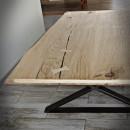 blaty z drewna dębowego wzmocnione krawędzie