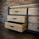 loftowa komoda z szufladami