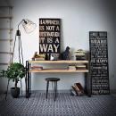 loftowa kosola przyscienna ze stali i drewna