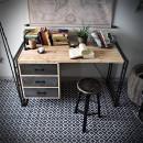 biurko z szufladami, kontenerem, stalowe industrialne