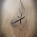 drewniane blaty z nierównymi krawędziami