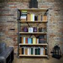 metalowe regały na książki w stylu loft