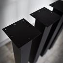 metalowe nogi czarne do stołu