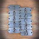 retro emblematy numeryczne