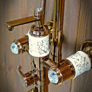 antyczny zestaw prysznicowy