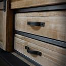 szuflady w szafkach rtv loft