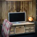 stolik telewizyjny w retro loft stylu