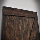 Ciemny brąz, drzwi szarpanych w ramie stalowej