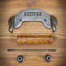 uchwyt starodawny na papier toaletowy