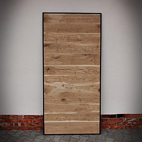 Drzwi dębowe w ramie stalowej METALDESK