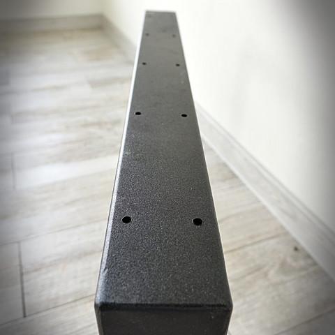 Noga do ławy MAŁA kwadrat 60x40 czarna