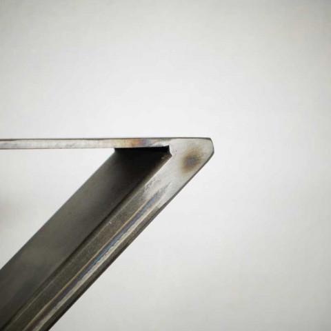 Industrialna noga do stołu, blatu typu X (80x75cm)