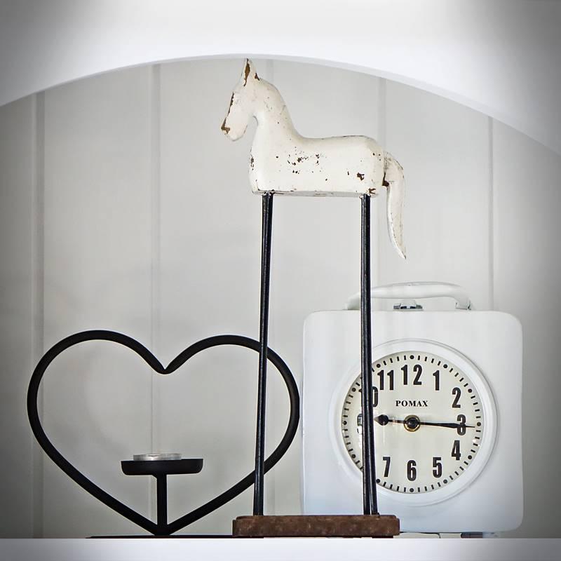 Dekoracyjny koń wysoki TROJA biały