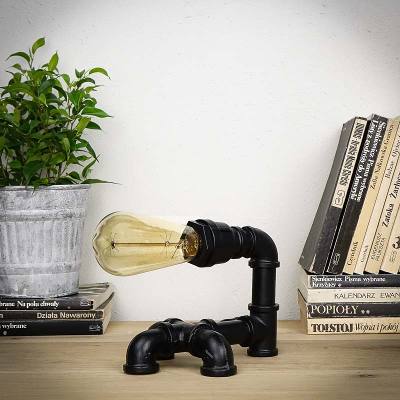 Lampka biurkowa E27 NIKOLA 5 czarna