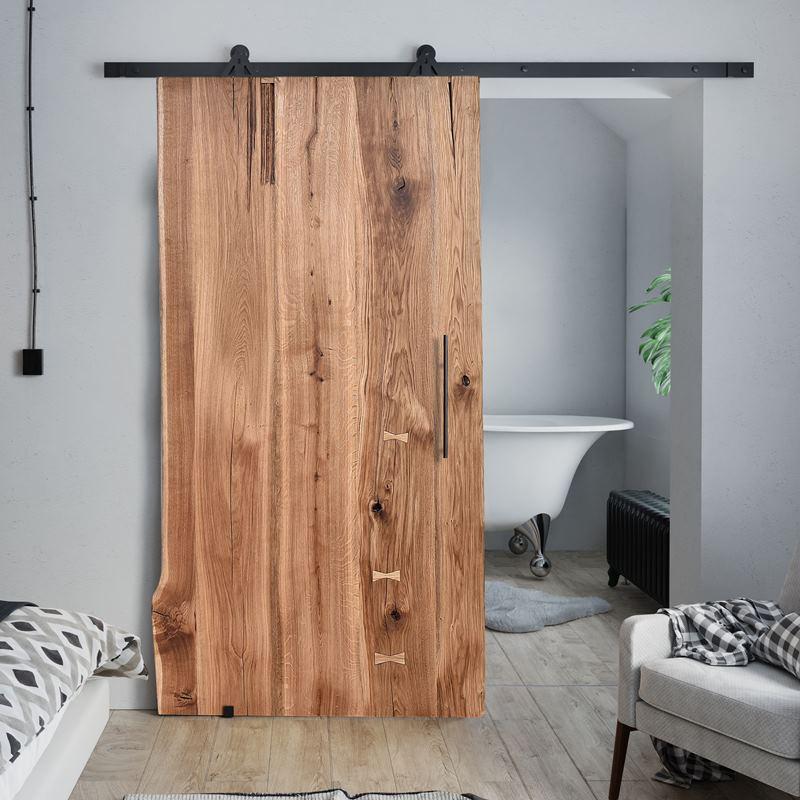 Drzwi przesuwne dębowe ONE BOARD BASIC