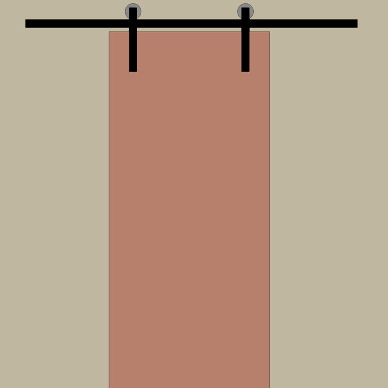 Kompletny system do drzwi jednoskrzydłowych z szyną o dł. 200cm.