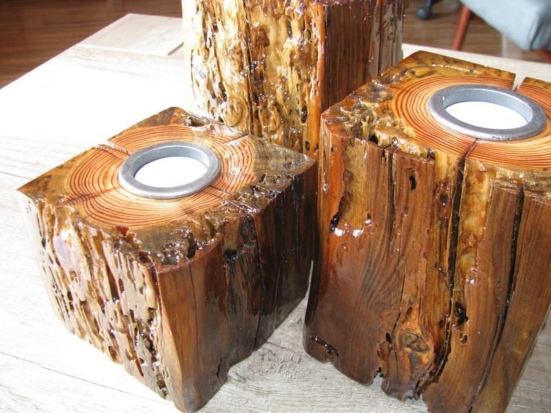 Rustykalne świeczniki DIY