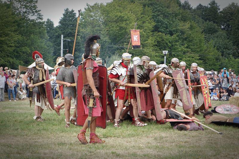 Bitwa wojsk barbarzyńskich z rzymskimi
