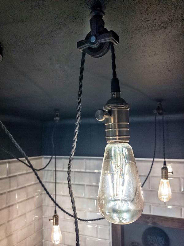 Industrialne oświetlenie łazienki