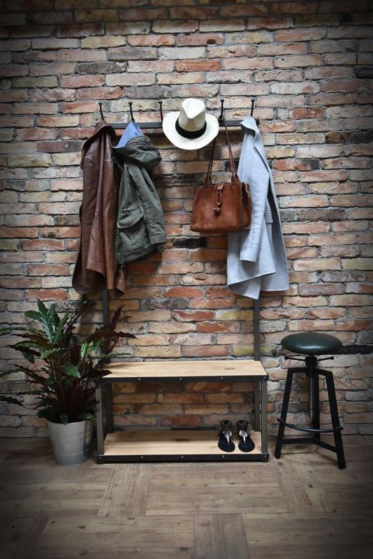 Garderoba w stylu loft