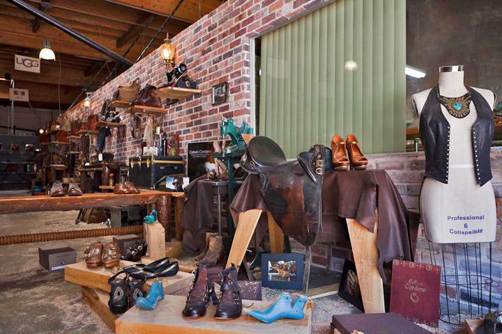 Rustykalny sklep z produktami retro