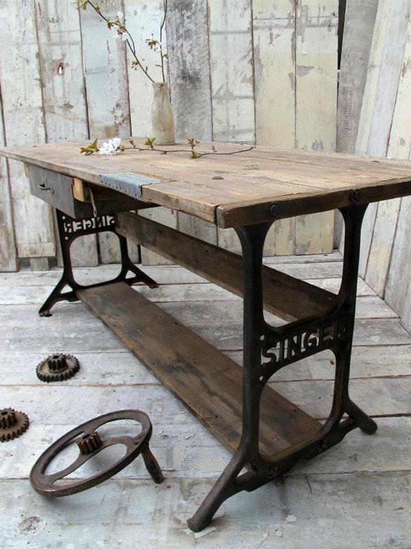 Stylowe metalowe nogi do stołu