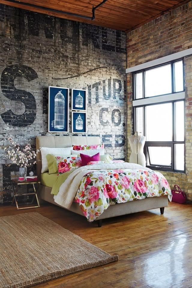 Sypialnia loft