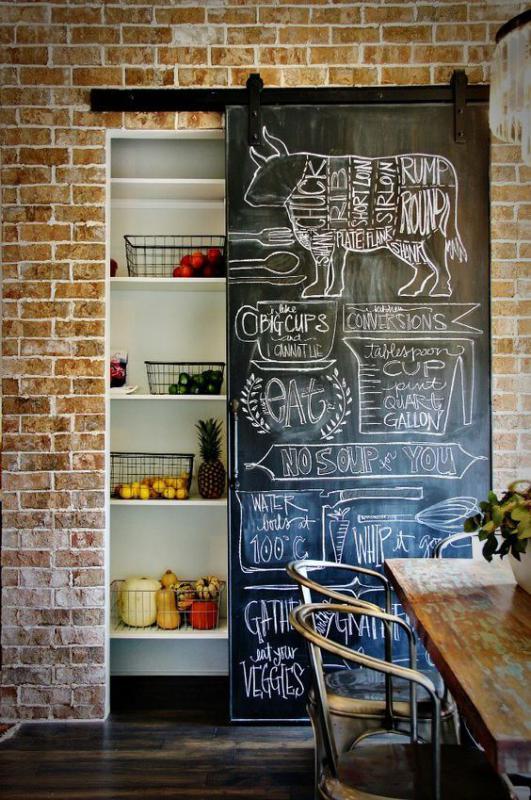 Drzwi z tablicą - do restauracji