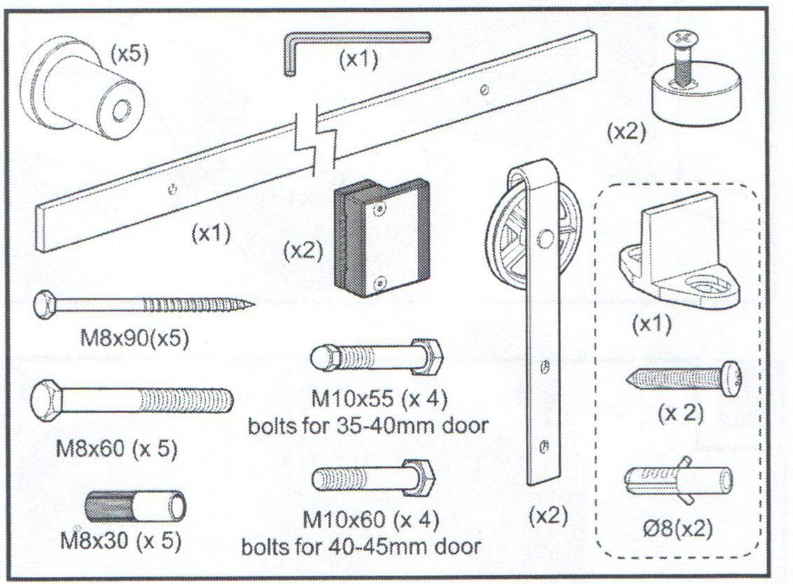 prowadnica drzwi przesuwnych