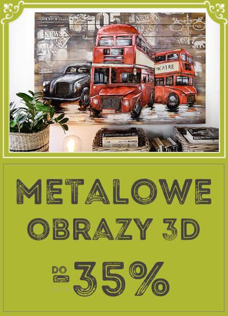Metalowe obrazy 3D do -35%
