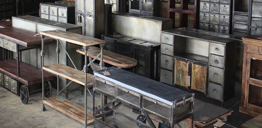 meble industrialne i vintage