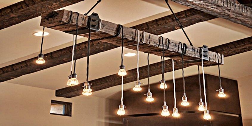 rustykalne oświetlenie vintage