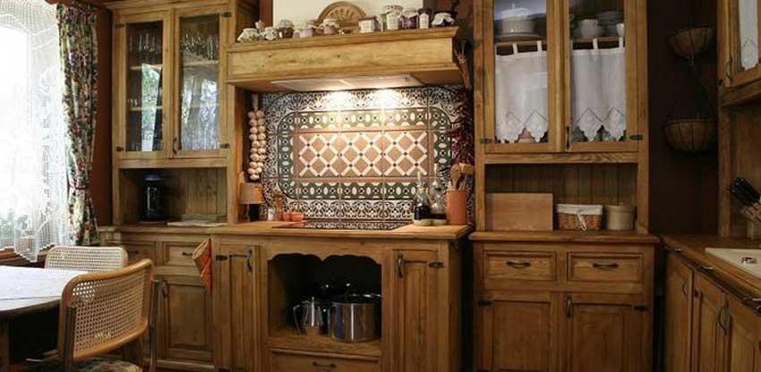 rustykalne dodatki do kuchni