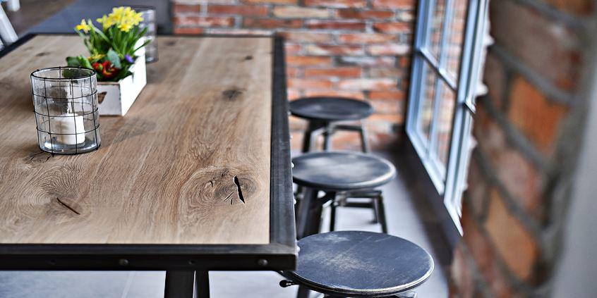 jak zrobić stół styl rustykalny