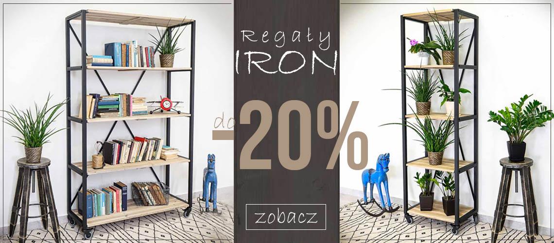 Regały Iron do -20%