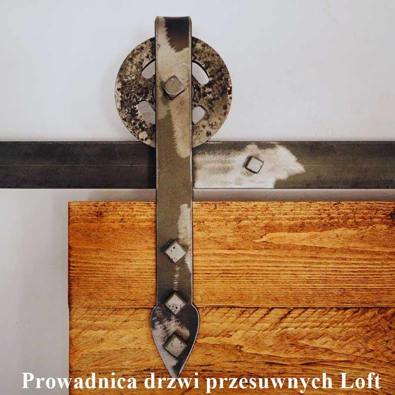 rustykalna prowadnica do drzwi drewnianych