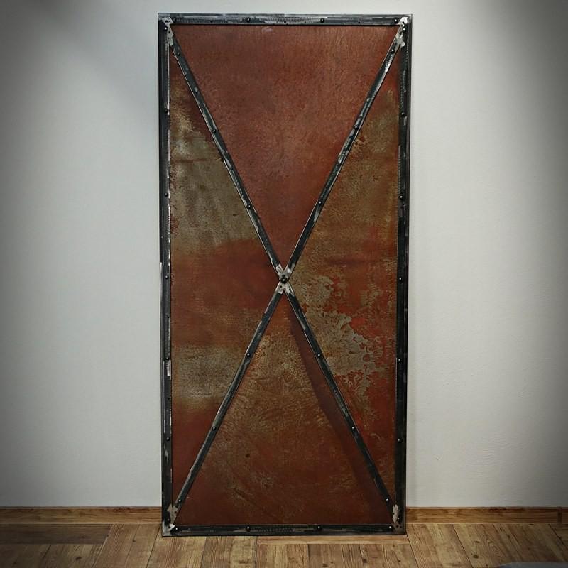stalowe drzwi przesuwne retro